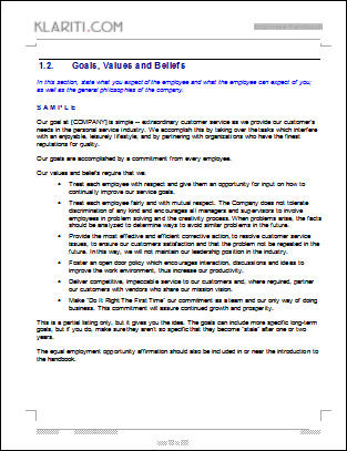 Fourth Additional product image for - Employee Handbook Template
