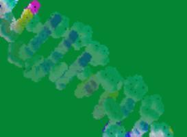 green dna diagonal background