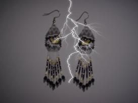 Brick Stitch Wolf Eye Delica Dangle Earring Pattern | Other Files | Arts and Crafts