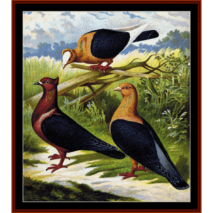 Doves - Wildlife cross stitch pattern by Cross Stitch Collectibles | Crafting | Cross-Stitch | Wall Hangings