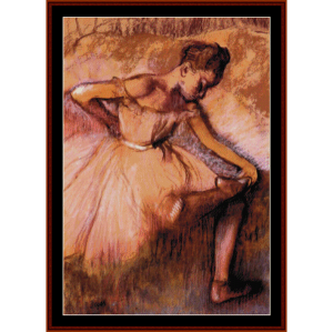 Pink Dancer - Degas cross stitch pattern by Cross Stitch Collectibles | Crafting | Cross-Stitch | Wall Hangings