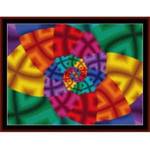 Fractal 180 cross stitch pattern by Cross Stitch Collectibles | Crafting | Cross-Stitch | Wall Hangings