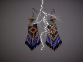 Brick Stitch Eagle Delica Seed Bead Fringe Earring Pattern | Other Files | Arts and Crafts