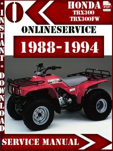 1988 honda 300 fourtrax manual