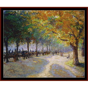 Hyde Park - London - Pissarro cross stitch pattern by Cross Stitch Collectibles | Crafting | Cross-Stitch | Wall Hangings
