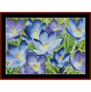 crocus ii - floral cross stitch pattern by cross stitch collectibles