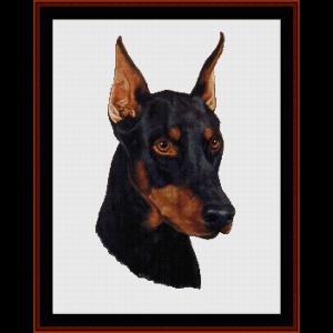 Doberman - Robert J. May cross stitch pattern by Cross Stitch Collectibles | Crafting | Cross-Stitch | Wall Hangings