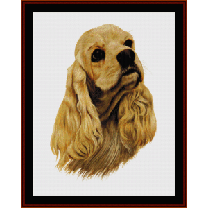 American Cocker Spaniel - Robert J. May cross stitch pattern by Cross Stitch Collectibles | Crafting | Cross-Stitch | Wall Hangings