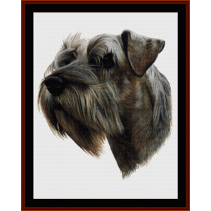 Schnauzer - Robert J. May cross stitch pattern by Cross Stitch Collectibles | Crafting | Cross-Stitch | Wall Hangings