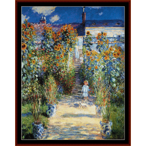 Artists Garden at Vetheuil - Monet cross stitch pattern by Cross Stitch Collectibles | Crafting | Cross-Stitch | Wall Hangings