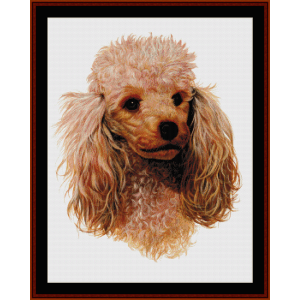Honey Poodle - Robert J. May cross stitch pattern by Cross Stitch Collectibles | Crafting | Cross-Stitch | Wall Hangings