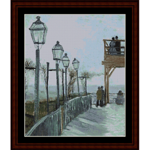 Montmartre - Van Gogh cross stitch pattern by Cross Stitch Collectibles | Crafting | Cross-Stitch | Wall Hangings