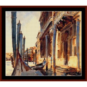 Grand Canal - Venice - Sargent cross stitch pattern by Cross Stitch Collectibles | Crafting | Cross-Stitch | Other