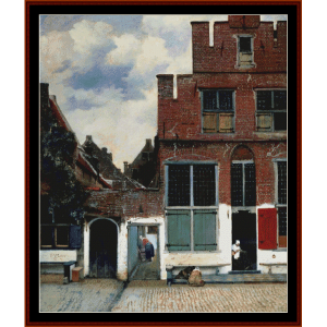 houses in delft - vermeer cross stitch pattern by cross stitch collectibles