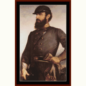 Stonewall Jackson - Civil War cross stitch pattern by Cross Stitch Collectibles | Crafting | Cross-Stitch | Other