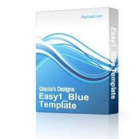 Easy1_Blue Template | Software | Design Templates