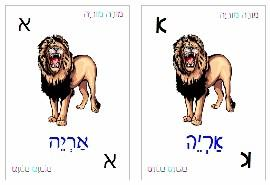 hebrew alphabet picture cards ebook