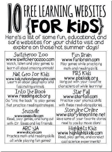 free websites for kids and more