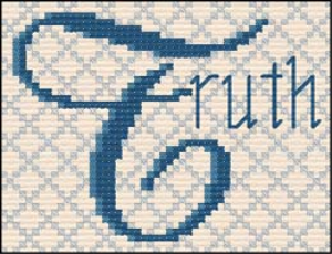 QS Truth | Crafting | Cross-Stitch | Religious