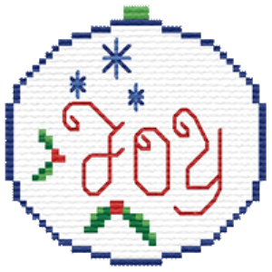 QS Joy Ornament | Crafting | Cross-Stitch | Religious