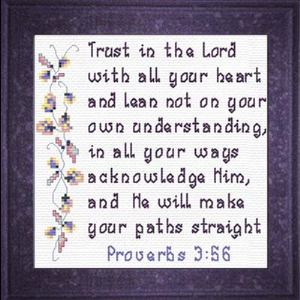QS Trust in The Lord | Crafting | Cross-Stitch | Religious