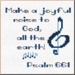 Joyful Noise - Psalm 66:1Chart | Crafting | Cross-Stitch | Religious