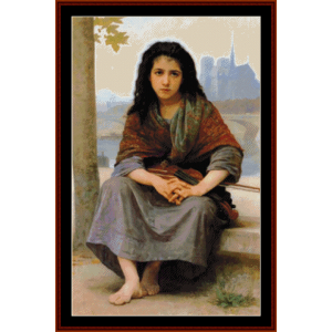 the bohemian - bouguereau cross stitch pattern by cross stitch collectibles
