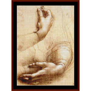 Study of Hands- DaVinci cross stitch pattern by Cross Stitch Collectibles | Crafting | Cross-Stitch | Wall Hangings
