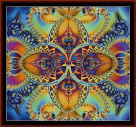 fractal 29 cross stitch pattern by cross stitch collectibles