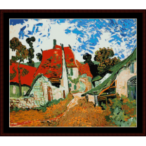 Village Street in Auvers - Van Gogh cross stitch pattern by Cross Stitch Collectibles | Crafting | Cross-Stitch | Wall Hangings