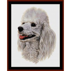 White Poodle - Robert J. May cross stitch pattern by Cross Stitch Collectibles | Crafting | Cross-Stitch | Wall Hangings