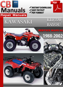 kawasaki klf220 bayou 1988-2002 service repair manual