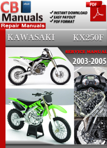 kawasaki kx250f 2003-2005 service repair manual