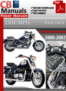 triumph america 2000-2007 service repair manual