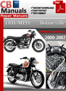 triumph bonneville 2000-2007 service repair manual
