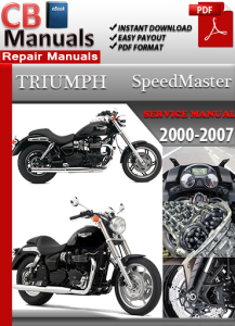 Triumph SpeedMaster 2000-2007 Service Repair Manual | eBooks | Automotive