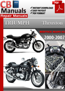 triumph thruxton 2000-2007 service repair manual