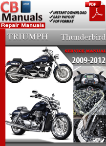 triumph thunderbird 2009-2012 service repair manual