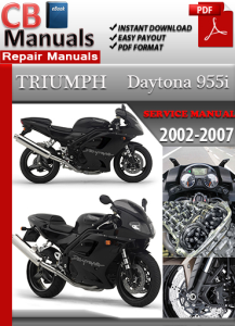triumph daytona 955 i 2002-2007 service repair manual