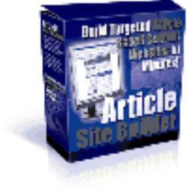 Article Site Builder. | Software | Developer