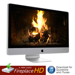 hd fireplace video for quicktime, appletv, itunes