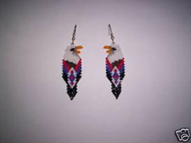 Brick Stitch Eagle Delica Seed Beading Earring Pattern | Other Files | Arts and Crafts