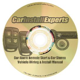 1993 geo storm car alarm remote start stereo & speaker wiring & install manual