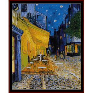 Cafe Terrace Postersize - Van Gogh cross stitch pattern by Cross Stitch Collectibles | Crafting | Cross-Stitch | Wall Hangings