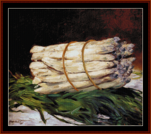 Bunch of Asparagus - Manet cross stitch pattern by Cross Stitch Collectibles | Crafting | Cross-Stitch | Wall Hangings
