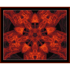 fractal 32 cross stitch pattern by cross stitch collectibles