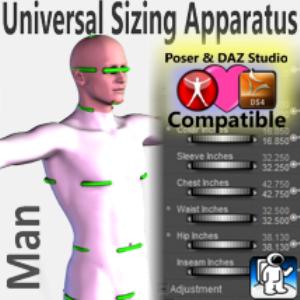 universal sizing apparatus/man