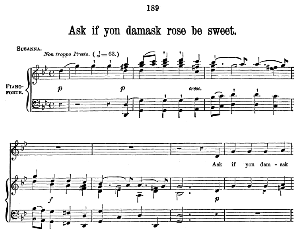 Ask if yon damask rose is sweet (Soprano Aria) G.F.Haendel: Susanna, HWV 66. Vocal Score (W.T.Best), Ed. Boosey & co  (1870). PD. | eBooks | Sheet Music