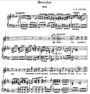 My father! Ah, methinks I see. Aria for Soprano. G.F.Haendel: Hercules, HWV 60, Vocal Score. Schirmer Anthology of Sacred Song (M. Spicker). Ed. Schirmer (PD) | eBooks | Sheet Music