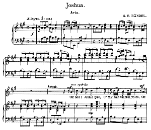 Oh! had I Jubal's lyre. Aria for Soprano. G.F.Haendel: Joshua, HWV 64, Vocal Score. Schirmer Anthology of Sacred Song (M. Spicker). Ed. Schirmer (PD). | eBooks | Sheet Music